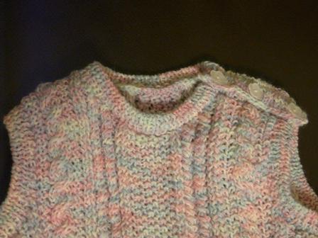 模様編みの ベスト 2