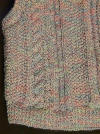 模様編みの ベスト 3