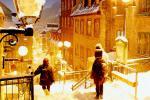 ケベック・シティ、雪景色の旧市街