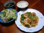 豆腐とレタスのエビチリ