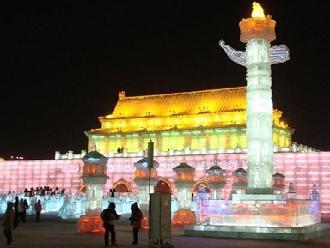 氷彫刻-北京天安門