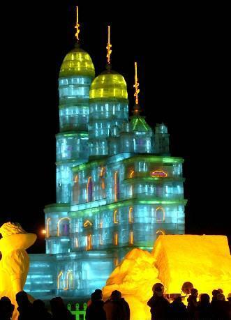 氷彫刻-ソフィア大教堂