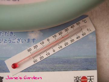 こっちの温度計も30℃