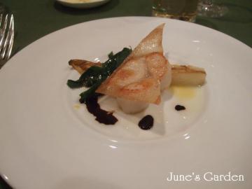 ホタテ貝とアンディーブのブレゼ バルサミコ風味