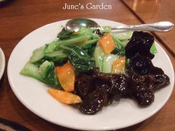 青梗菜と椎茸炒め