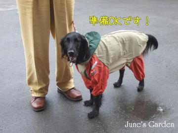 レインコート着て善光寺詣り