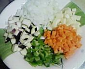 残り物の野菜たち
