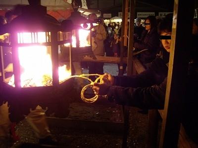 八坂神社をけら火1-20091231