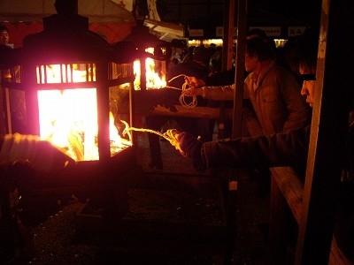 八坂神社をけら火2-20091231