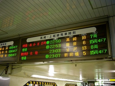 上野駅案内板20100219