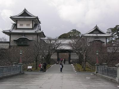 金沢城・石川門1-20100220