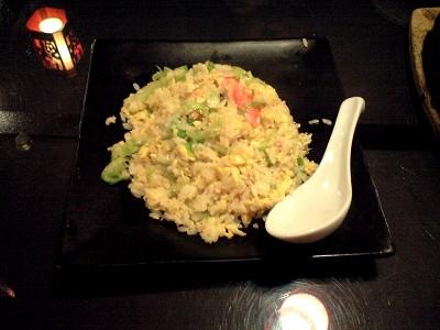 蟹レタス炒飯20100410