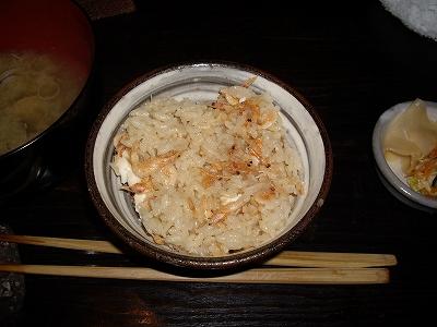 桜鯛と桜えびの釜飯2-20100424