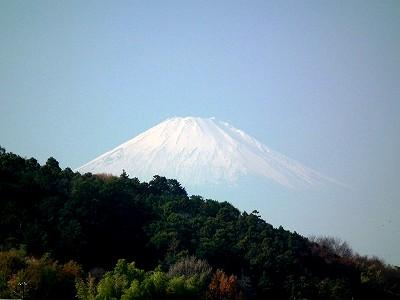円覚寺弁天堂からの富士山20101205