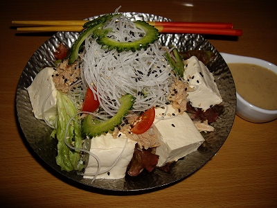島豆腐と胡麻の健康美サラダ20110123