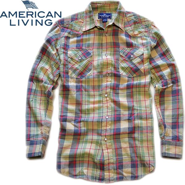 03アメリカンリビング画像チェックシャツ