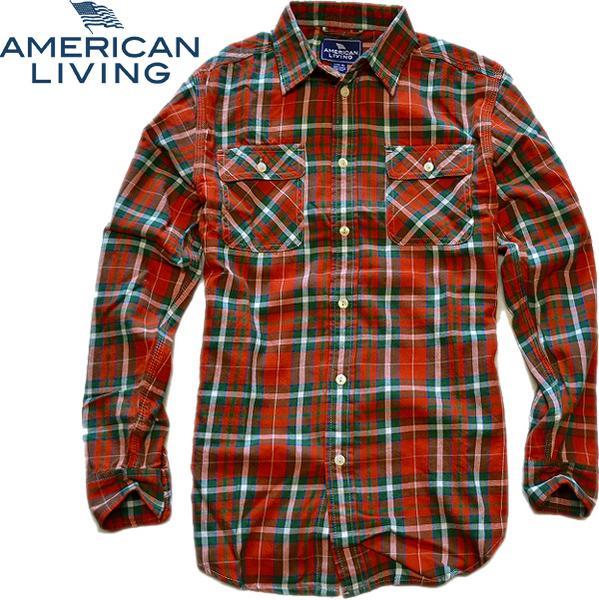 02アメリカンリビング画像チェックシャツ