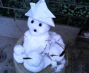 雪だるまとうさぎ