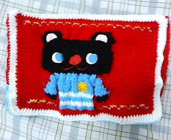 編みクッション