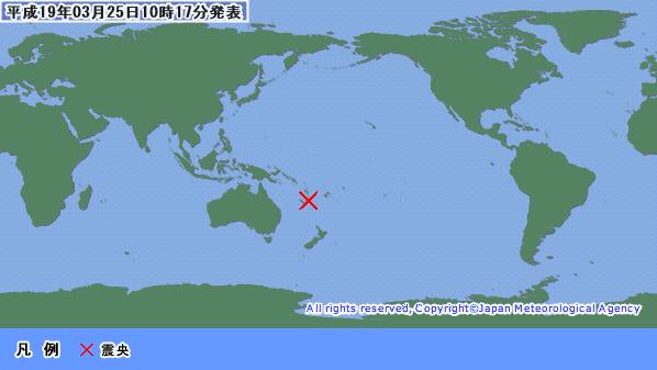 バヌアツ地震情報地図