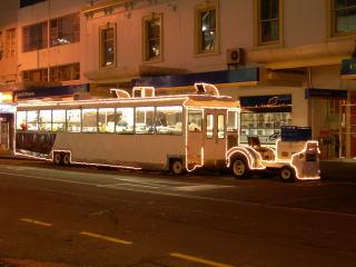 ハンバーガーのバス