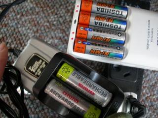 充電池充電中