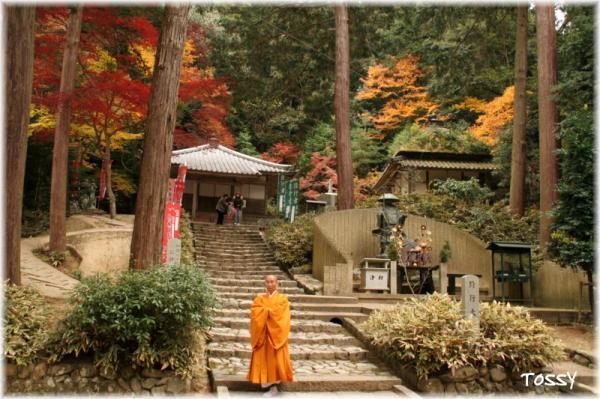 真影堂と僧侶