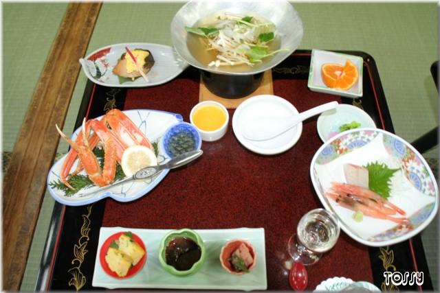 宍道湖湖畔の夕食