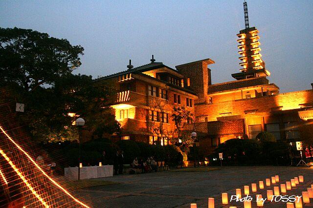 旧甲子園ホテル ライトアップ