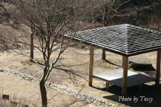 アジサイ園の休憩所