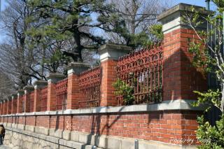国立博物館の塀