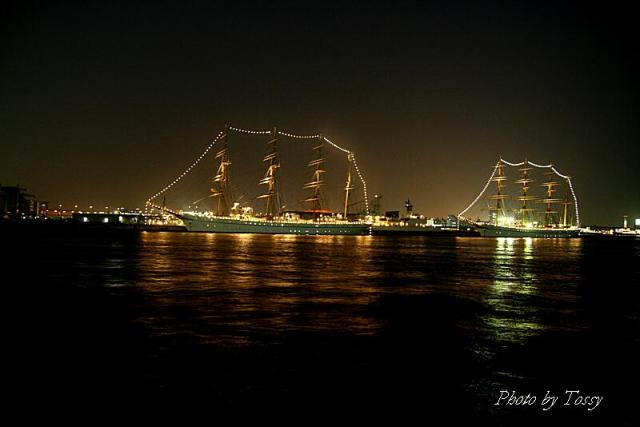 電飾された帆船2