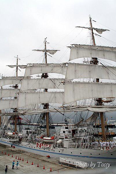 帆を広げる