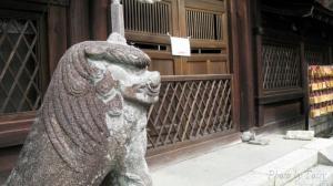 梅宮大社 狛犬 ん像
