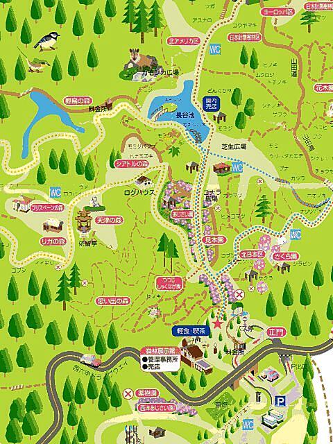 植物園内地図