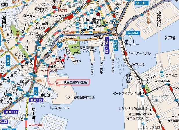 神戸港map