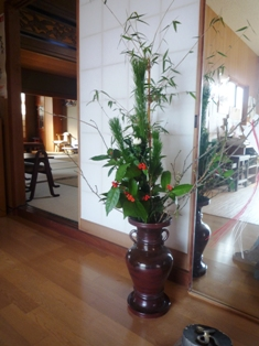 正月の生け花2011