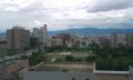病棟談話室からの風景 正面は生駒山