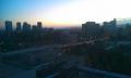 23日 病棟談話室からの眺望 夜明け前