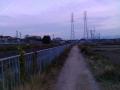 ポコの散歩道で 松尾川堤防