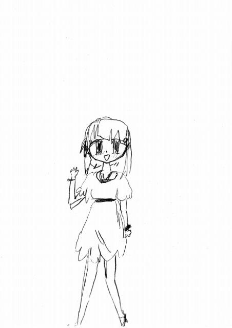 鉛筆で描いた