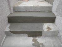 階段セメント補修