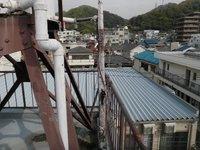 屋上給水元バルブ取替 神戸市兵庫区