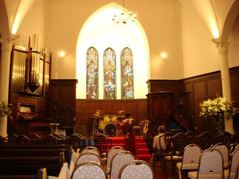 教会の中で