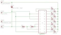 レベルメータの回路図