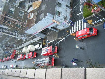 消防車の盛り合わせ