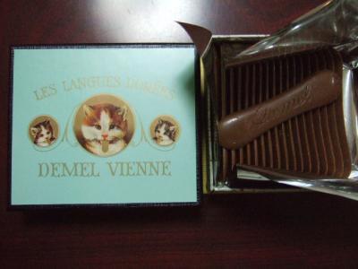 デメルの猫舌チョコ