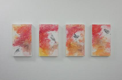 市川裕隆「花鳥図Ⅱ-四・参・弐・壱」