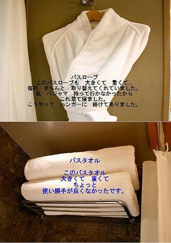 タオルとバスローブ