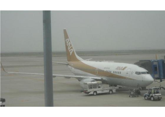 セントレア空港到着搭乗機
